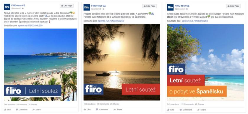FIRO tour FB ads