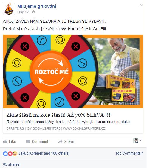 FB reklamní banner